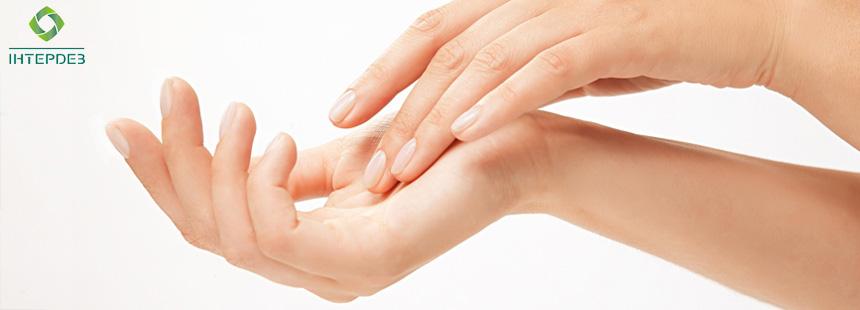 Средства по уходу за кожей рук медицинских работников